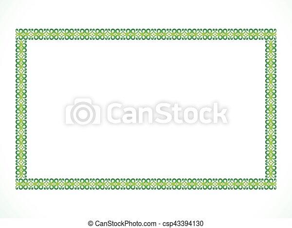 abstract artistic green border - csp43394130