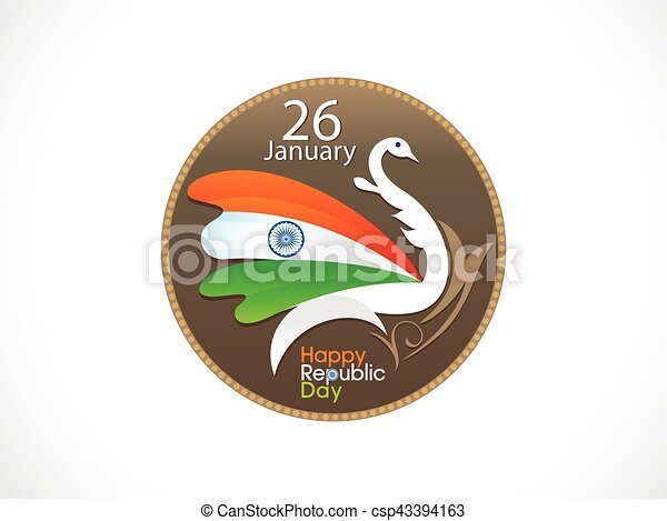 abstract artistic indian republic day background - csp43394163