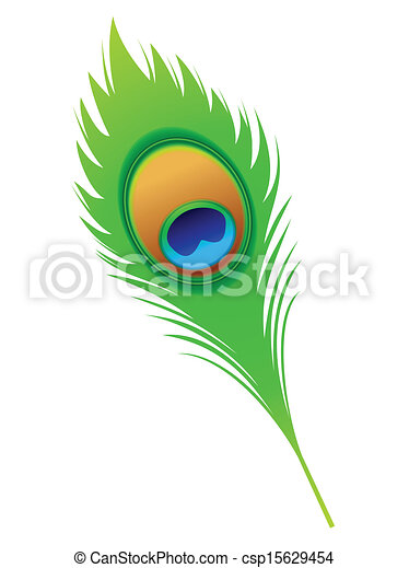 abstract artistic peacock feather vector illustration clipart vector rh canstockphoto com clipart peacock feather black and white flute with peacock feather clip art