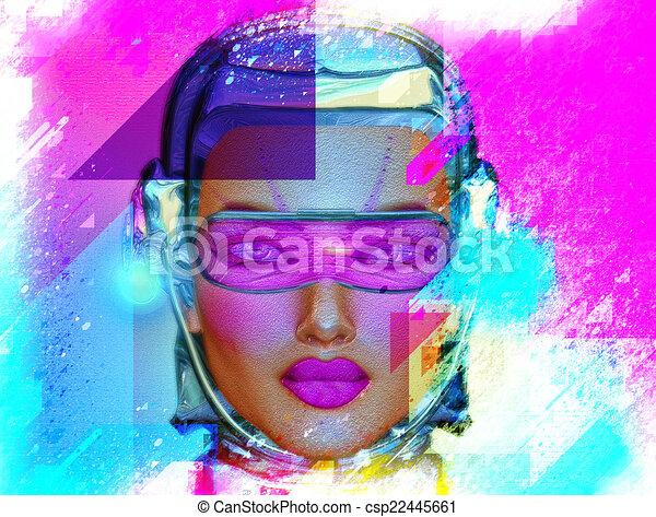 Abstract Art,Robot Girl - csp22445661