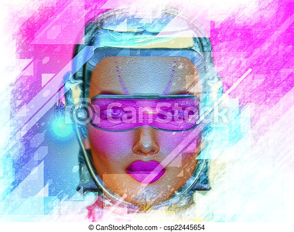 Abstract Art,Robot Girl - csp22445654