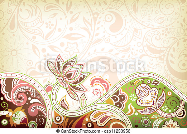 Abstract Asia Floral Background - csp11230956