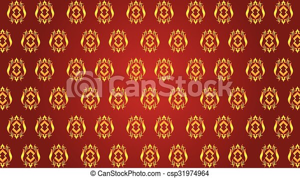 Abstract Asian Traditional Wallpaper For Banner