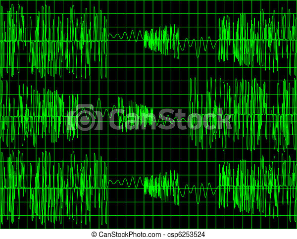 Abstract Audio Wave Form Background - csp6253524