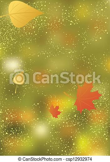 Abstract autumn background - csp12932974