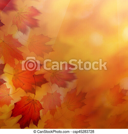Abstract Autumn Background With Red Fall Leaves Canstock