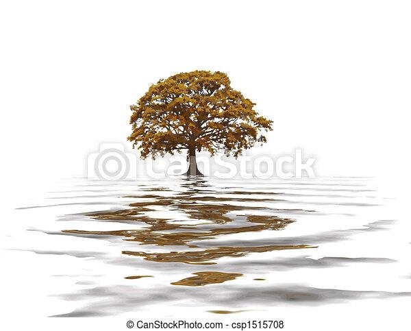 Abstract Autumn Oak Tree - csp1515708
