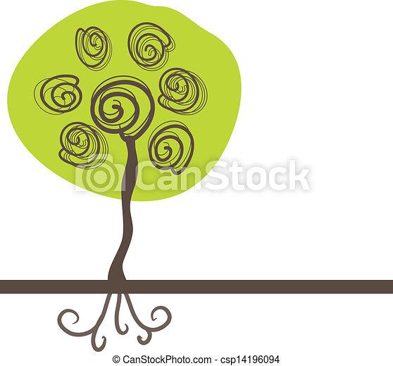 Abstract autumn tree - csp14196094