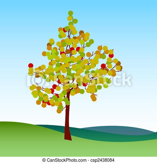 Abstract autumn tree - csp2438084