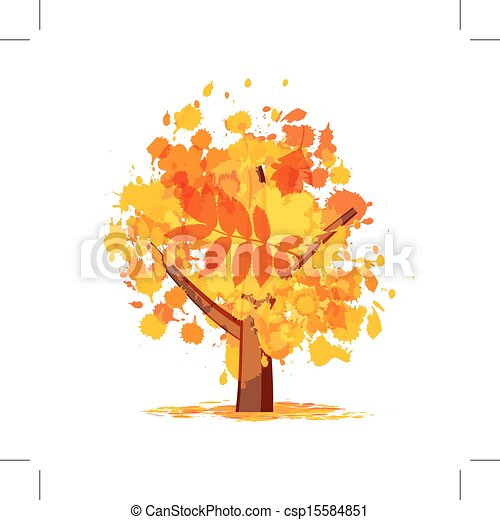 Abstract autumn tree for your design - csp15584851