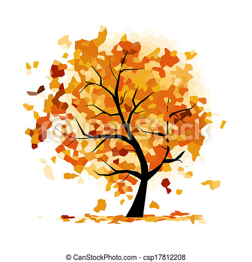 Abstract autumn tree for your design - csp17812208