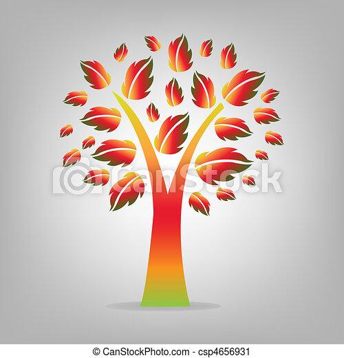 Abstract Autumn Tree - csp4656931