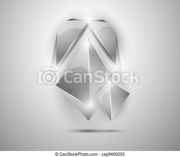abstract background - 3d figures - csp9400203