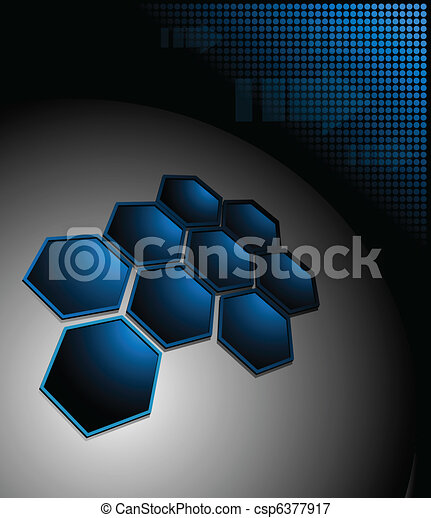 Abstract background blue  - csp6377917