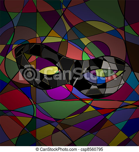 abstract background carnival mask - csp8560795