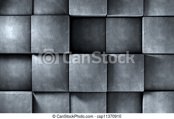 Abstract background cement blocks in gray toned - csp11370910