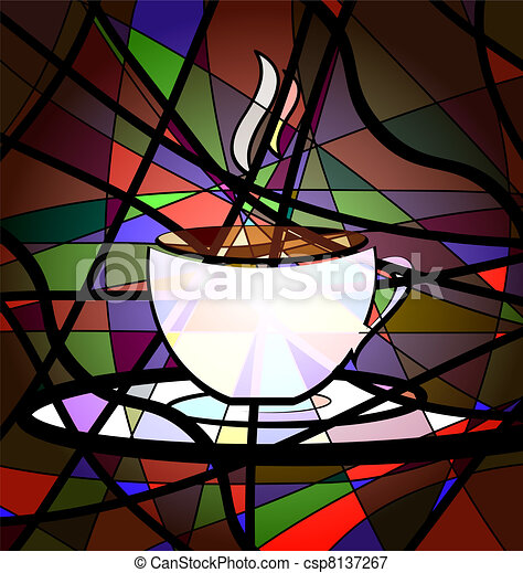 abstract background cup of coffee - csp8137267