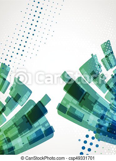 Abstract background. Dotted Vector theme. - csp49331701