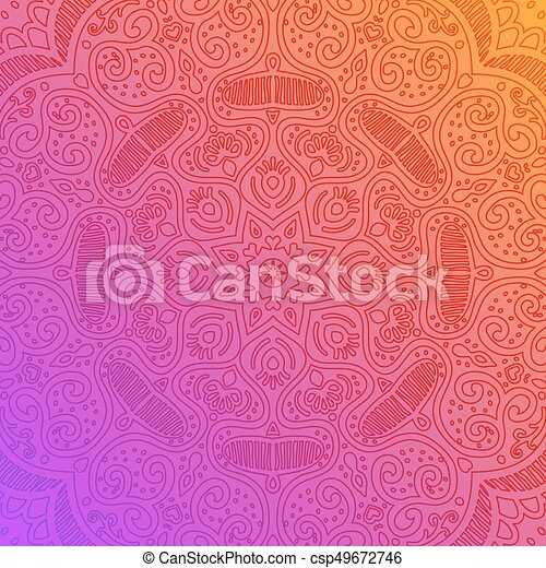 Abstract background, fantastic flower - csp49672746