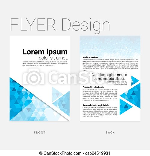 Abstract background flyer - csp24519931