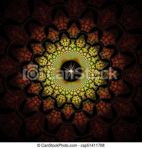 Abstract background. Fractal digital artwork, 3d illustration - csp51411768