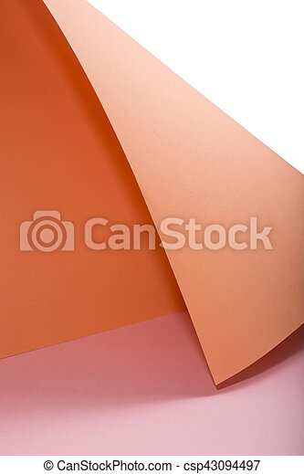 Abstract background from sheets of orange and pink - csp43094497