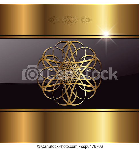 Abstract background  gold - csp6476706