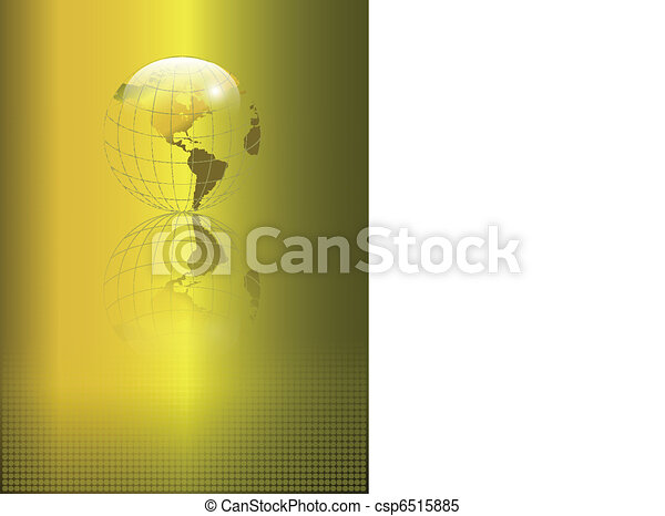 Abstract background gold globe - csp6515885