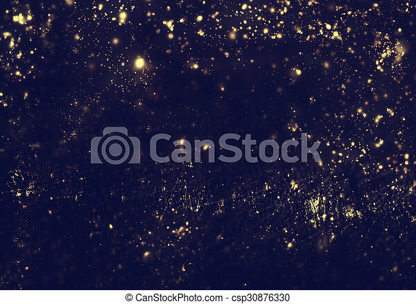 Abstract Background Golden Lights Flash Night City Lens Flare Abstract Fractal Black And Dark Gold Wallpaper