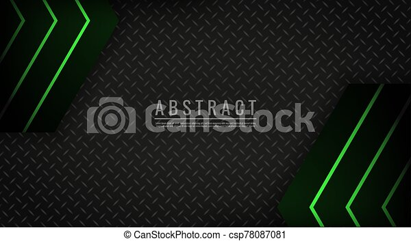 Abstract background light green neon technology geometric vector - csp78087081