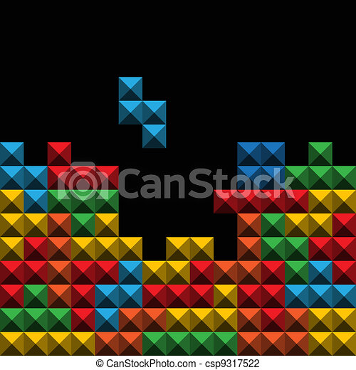 Abstract background o? color game figures - csp9317522