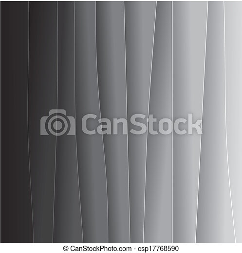 abstract background of black & white paper sheets - vector graphic. This backdrop graphic consists of tones of black and grey from black on one end to very light grey or off-white on the other - csp17768590