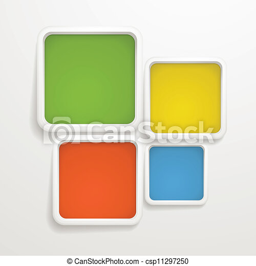 Abstract background of color boxes. Template for a text - csp11297250