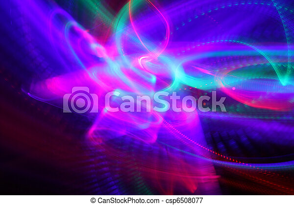 abstract background of moving colorful lights over black picture