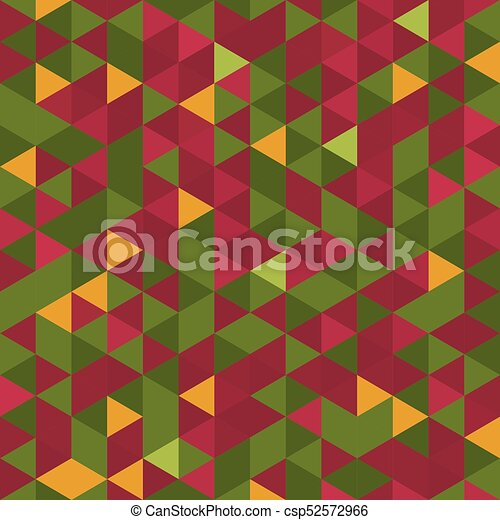 Christmas Colors.Abstract Background Of Triangles