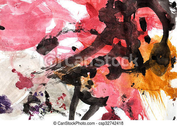 abstract background of watercolor - csp32742418