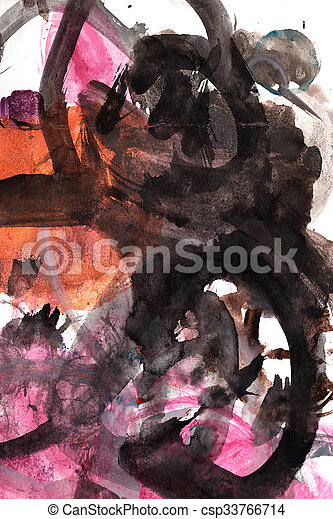 abstract background of watercolor - csp33766714