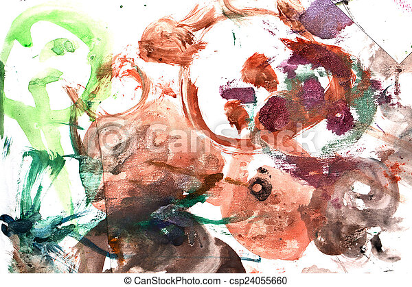 abstract background of watercolor - csp24055660