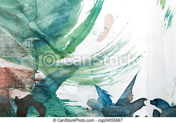 abstract background of watercolor - csp24055667