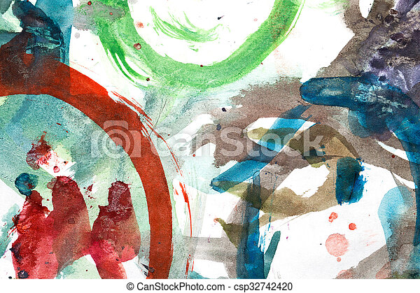 abstract background of watercolor - csp32742420
