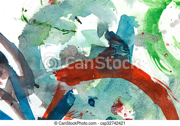 abstract background of watercolor - csp32742421