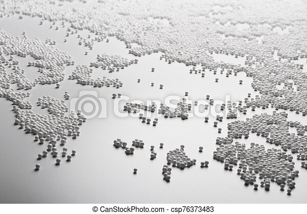 Abstract background of White foam ball texture - csp76373483