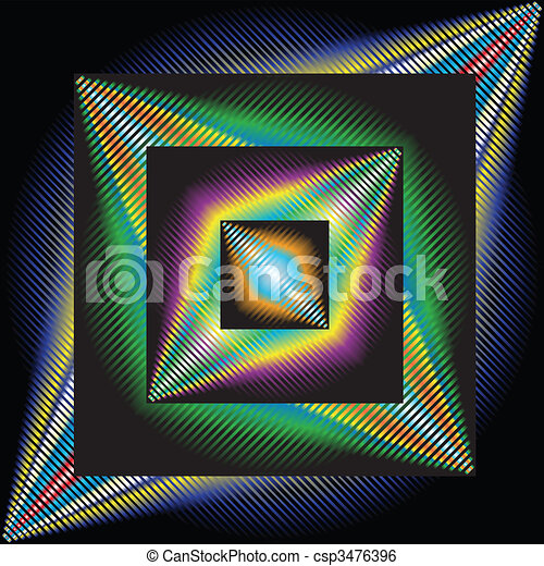 Abstract background, optical art - csp3476396
