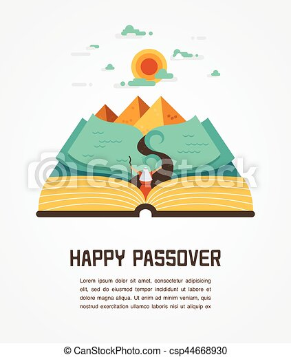 Abstract background - out of the Jews from Egypt. vector and illustration - csp44668930