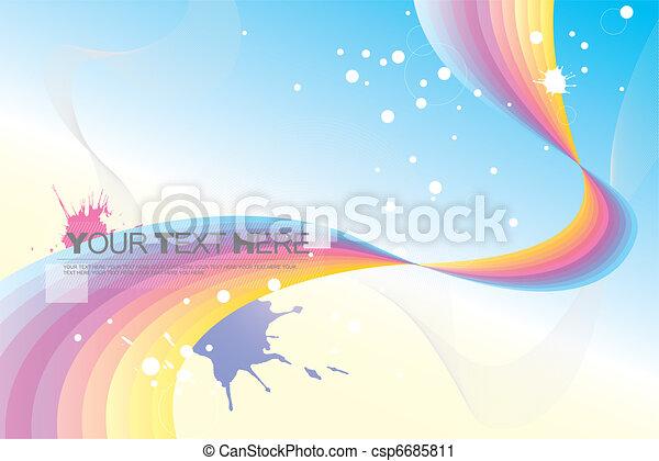 abstract background (rainbow) - csp6685811