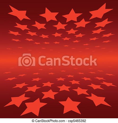 abstract background red stars - csp5465392