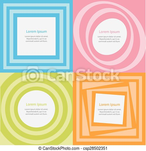 Abstract background set optical illusion of the movement round ...
