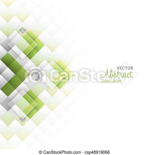 Square Shapes Vector Illustration