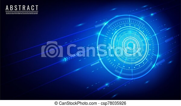 Abstract background technology concept vector. With arrow, dot and circle. - csp78035926