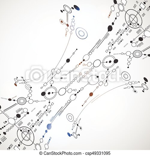 Abstract background technology. Vector - csp49331095